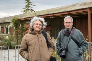 Roberto Tartaglione on the left and Antonio Tartaglione on the right. on assignment in Vicenza (VI) 21 Novembre 2012