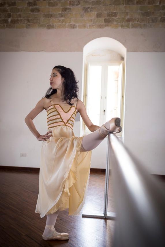 la documentazione di un evento per #matera 2019: la danzatrice Venus Villa a Matera durante le prove per Romeo e Giulietta.