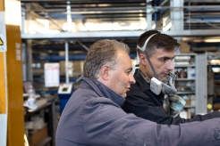 Michele D'Alonzo, owner of Elfim srl. at the Lacer Cell.