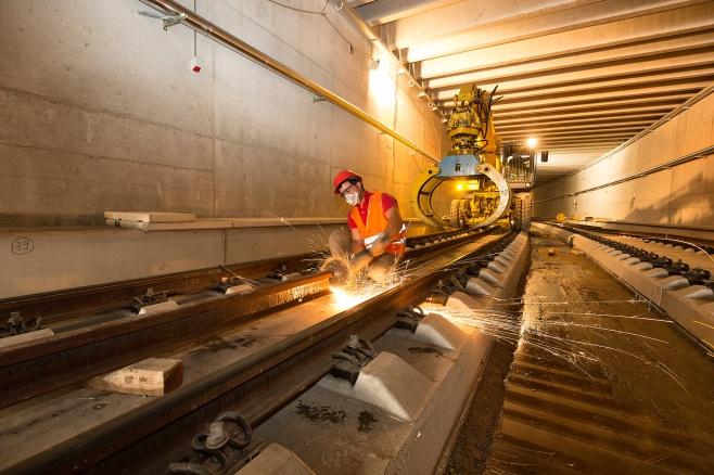 lavori per la costruzione della Stazione di Santa Cecilia 2014